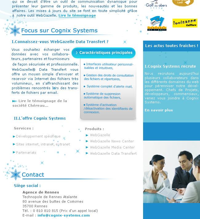 La newsletter Hiver de Cognix Systems